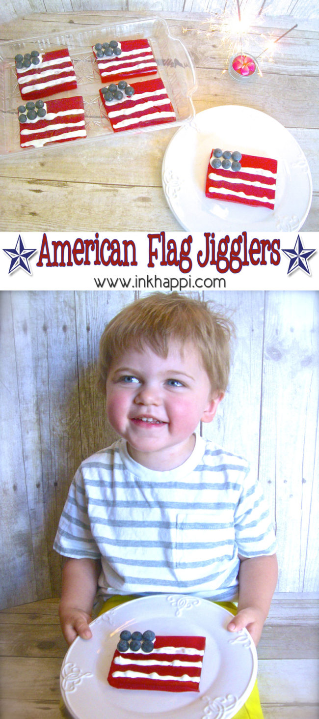 Have fun with jello! American Flag Jello Jigglers