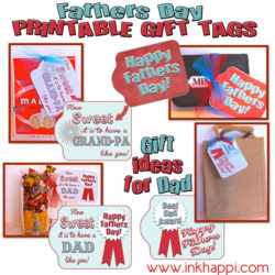 Free printable Fathers day gift tags and gift ideas
