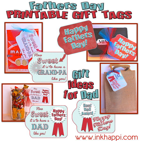 picture regarding Free Printable Fathers Day Tags referred to as Fathers Working day Reward Tags for a \