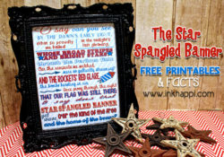 The Star Spangled Banner …Some Facts and Printables