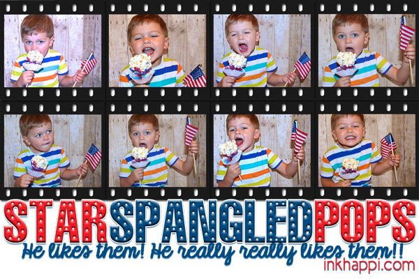 "Popcorn Balls gone Patriotic with a ""surprise"" . Recipe & printable"