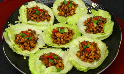 Green salad recipes. Asian Chicken Lettuce Wraps from SELF