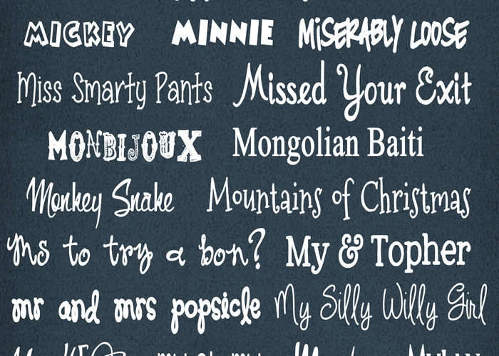 M Fonts have arrived at inkhappi… Come see!