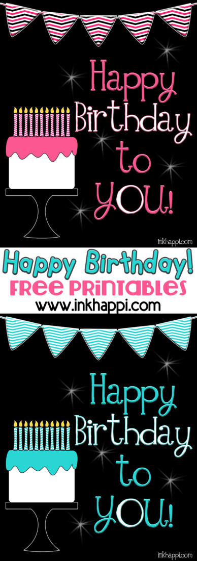 Cute free printable birthday posters from inkhappi.com