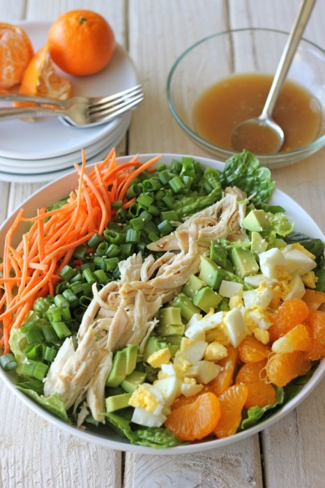 Green salad recipes. Asian-Style Cobb Salad from Damn Delicious