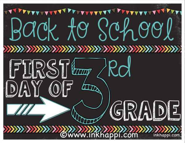 First day of school photo prop signs... free printables from inkhappi ...