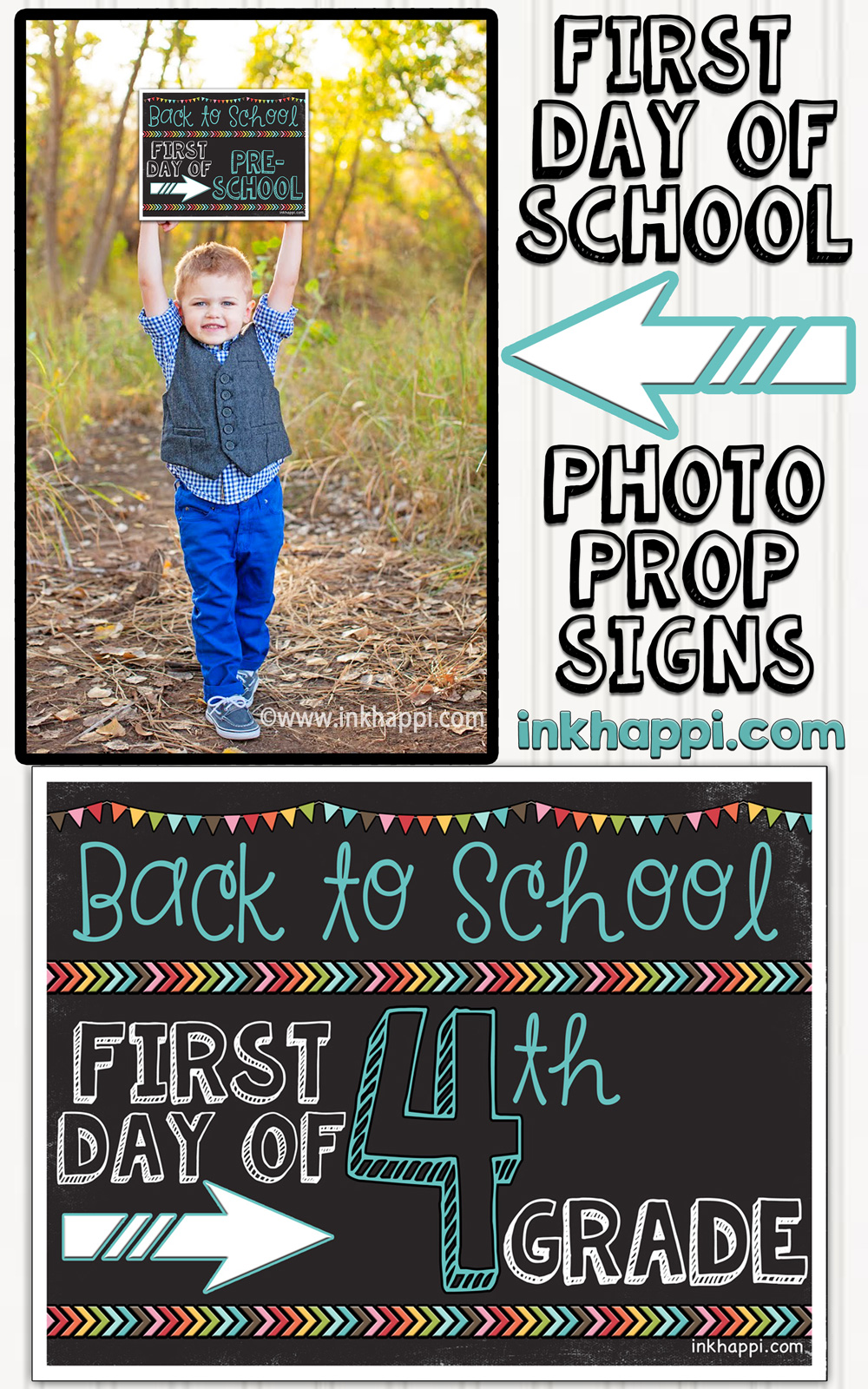 5 fun first-day-of-school photo ideas On the first day of school, capture the most social media–worthy photos ever with these awesome DIY props.
