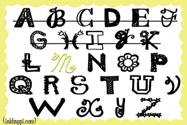 inkhappi.com shares 36 favorite M FONTS!