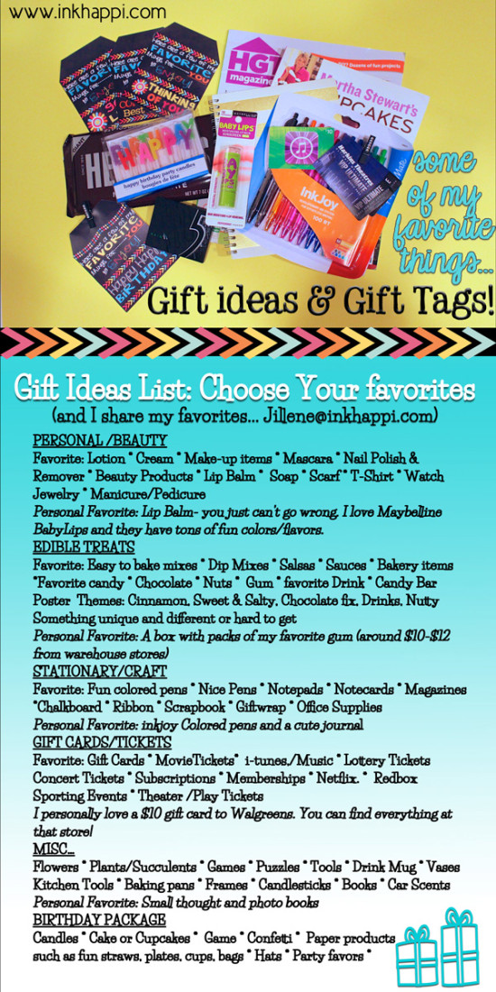 Gift Ideas List With Of Favorite Things You Usually Cant Go Wrong Pick