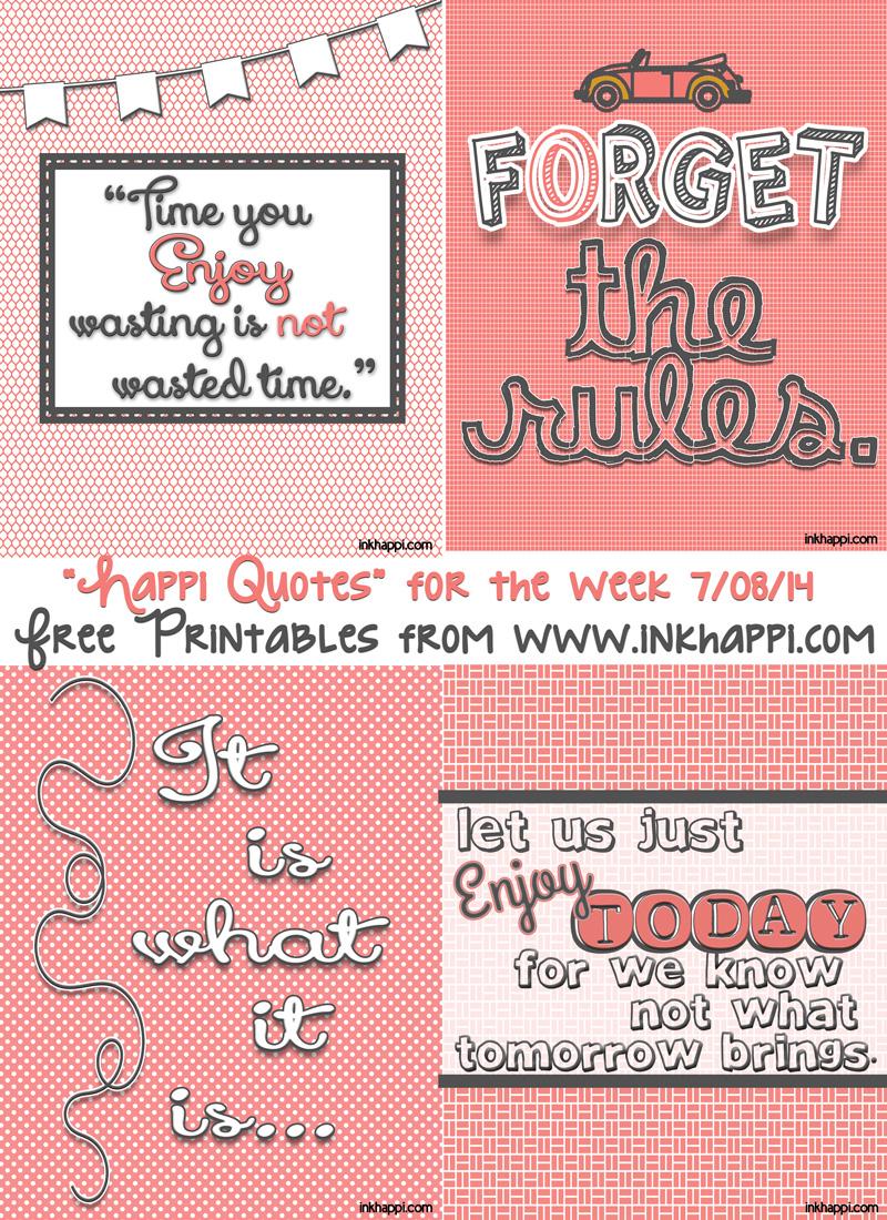 Enjoy Life Four Printable Quotes Inkhappi