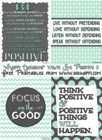 Focus on the POSITIVE! Lots of positive quotes. Free printables from inkhappi.com