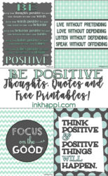 Positive Quotes and Thoughts {free printables}