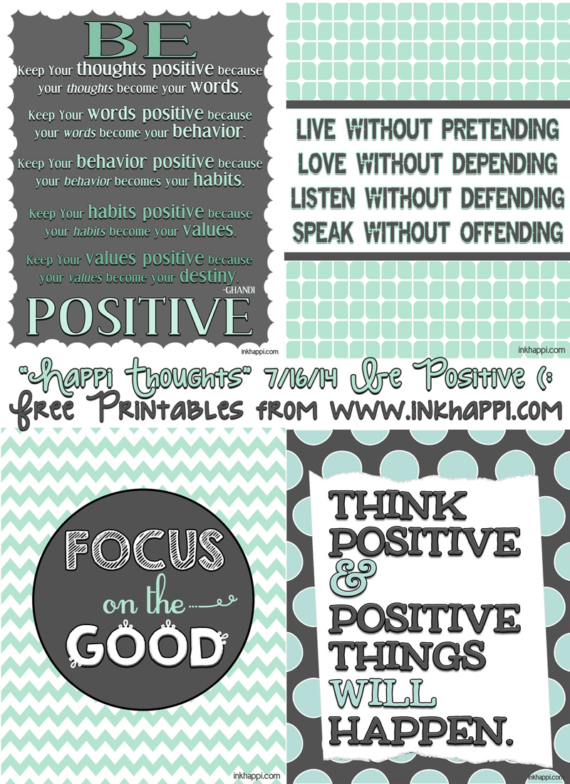 Positive Quotes: Quotes Positive Thinking Printable. QuotesGram
