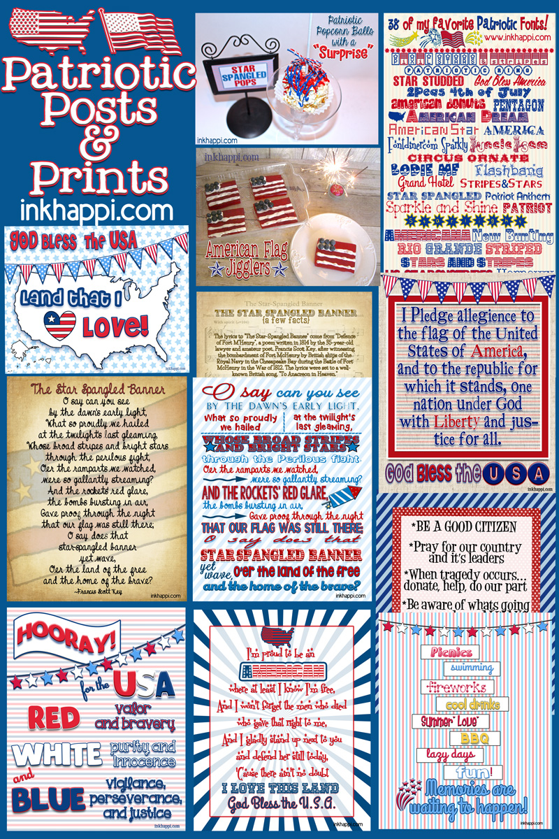 Tons of free printables and patriotic posts from nkhappi.