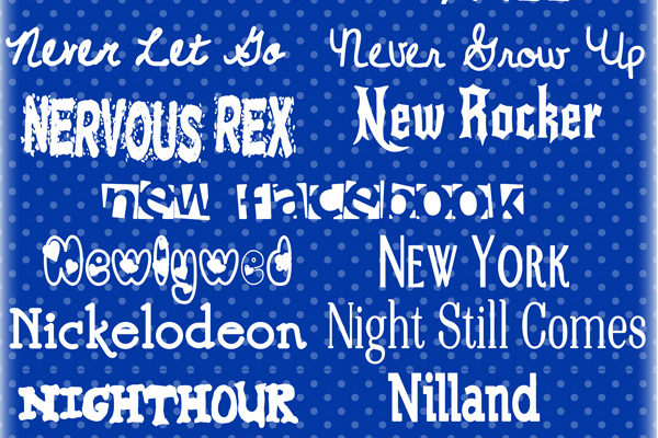 N Fonts … 30 of my top picks!