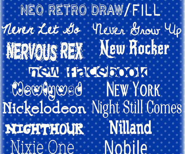 "Sharing some of my top picks for the letter N fonts along with a free ""happy"" print at inkhappi.com"