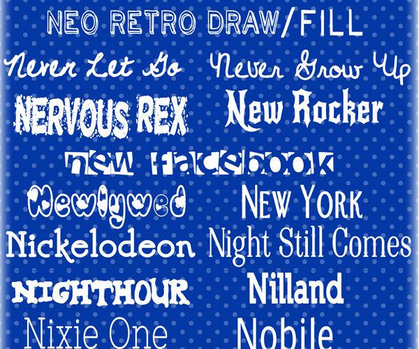 N Fonts … 30 of my top picks!