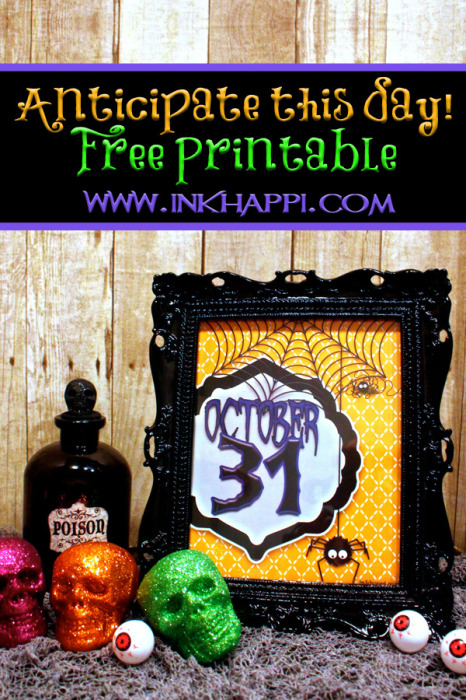 It's coming! Let the countdown begin! Cute free printable from inkhappi.com