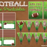 Football free printables for the food table and more!
