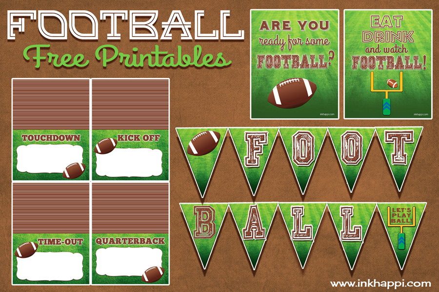 Football free printables for the food table and more! #football #freeprintables #foodlabels