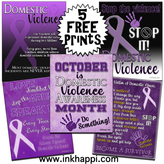 Domestic Violence Awareness information & printables