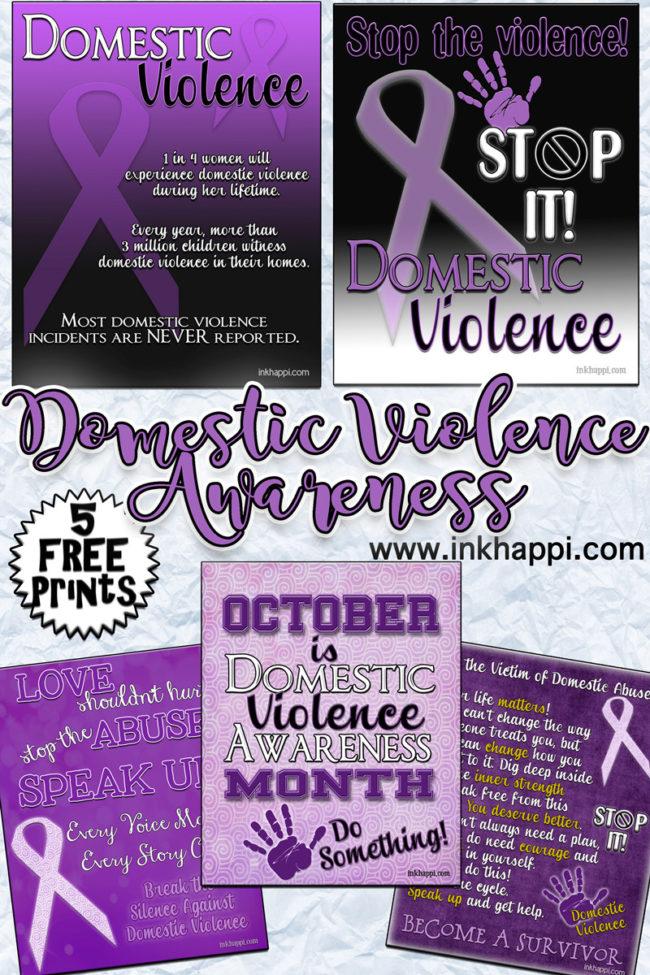 Domestic Violence Awareness information and printables