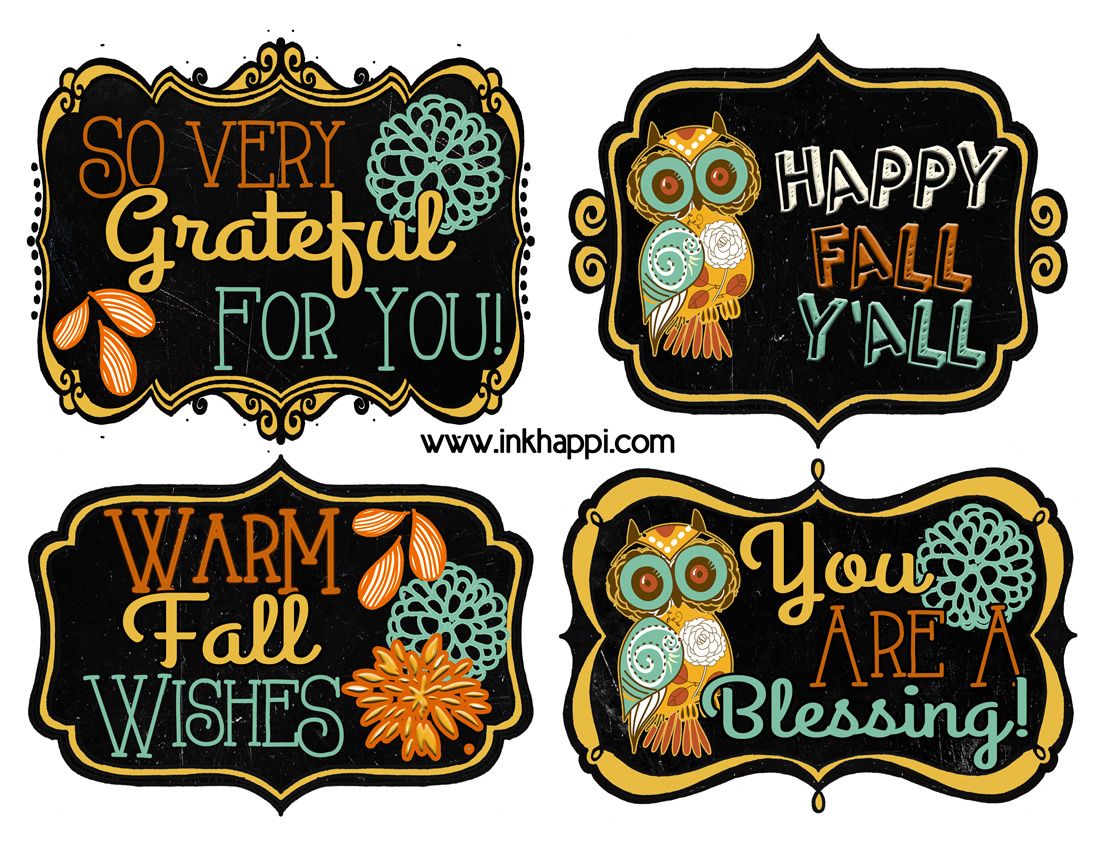 fall printable gift tags to show your gratitude inkhappi