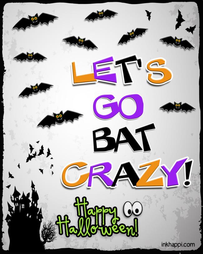 Go bat crazy!! Spooky cute free printable!