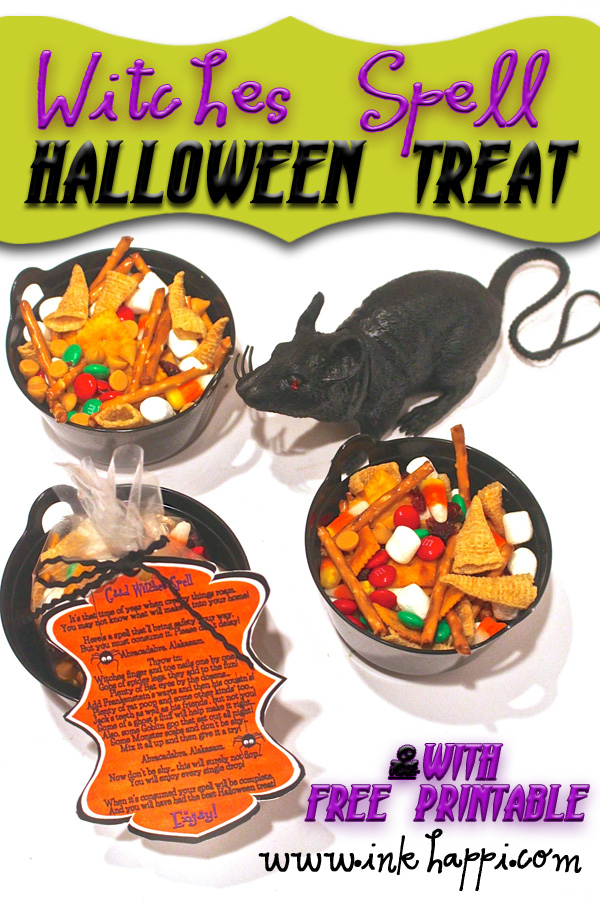 Very fun! Witches Spell Halloween Treat with free printable