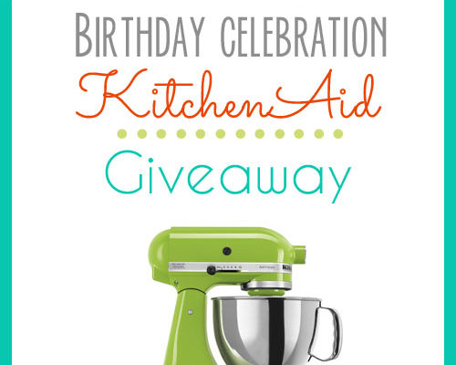 Giveaway time! How about a nice new KitchenAid mixer?!!