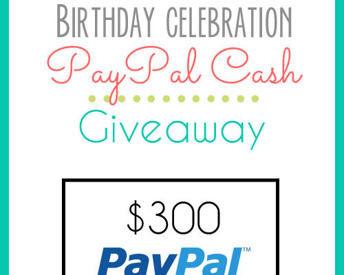 Cash Giveaway —–>> Yes, we are still celebrating here!