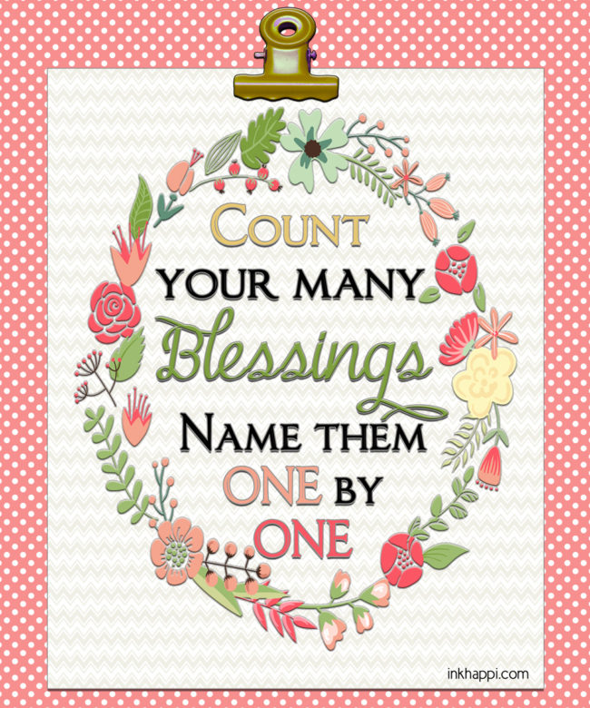 Count your blessings free printable. Love it!