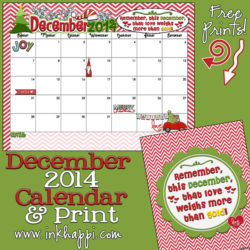 December 2014 Calendar is here. Yep!