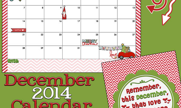 Yes! It's the December 2014 Calendar and quote free printables from inkhappi.