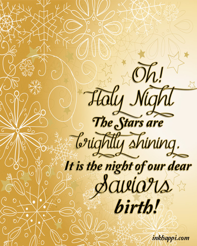 Oh Holy night Christmas Carol free print. A great addition to a mantle or Christmas display!