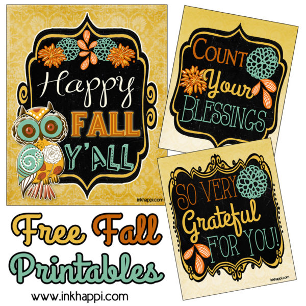 These pretty 8x10 free fall printables would look great framed!