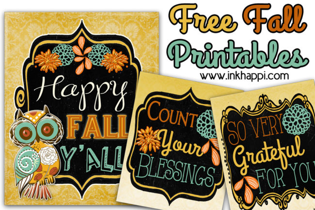 These pretty 8x10 free fall printables would look great framed! #fall #Thanksgiving #freeprintables #gratitude