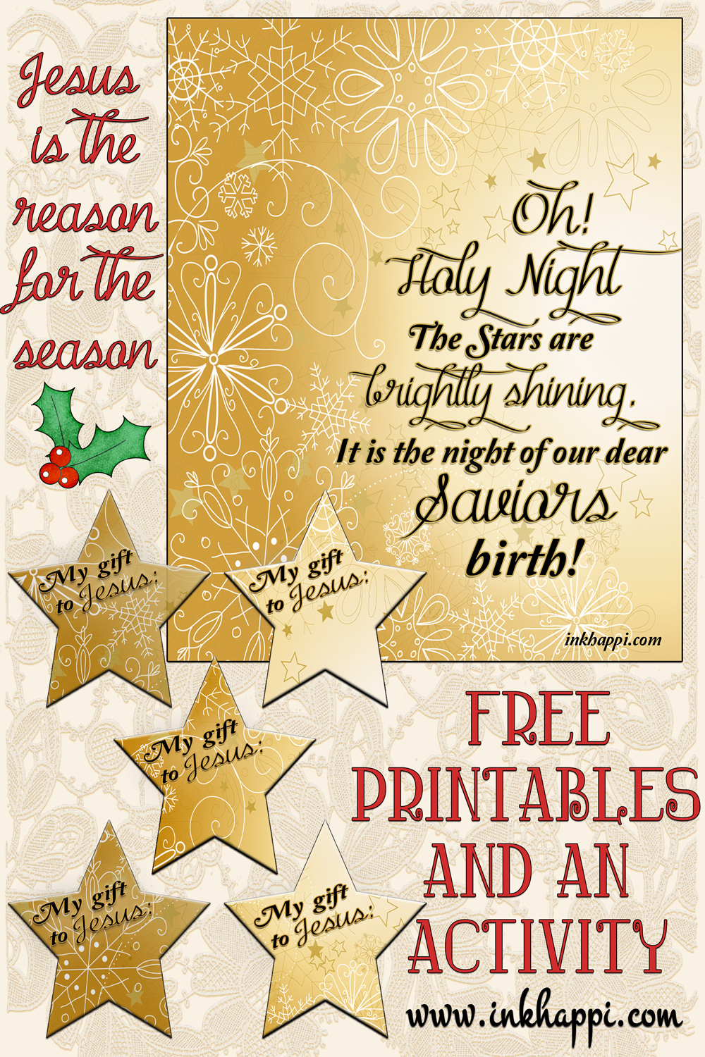 Oh Holy Night …Christmas activity, and a free printable!