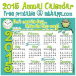 2015 Annual Calendar… Make it Count!