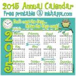 2015 Annual Calendar… Make it Count!