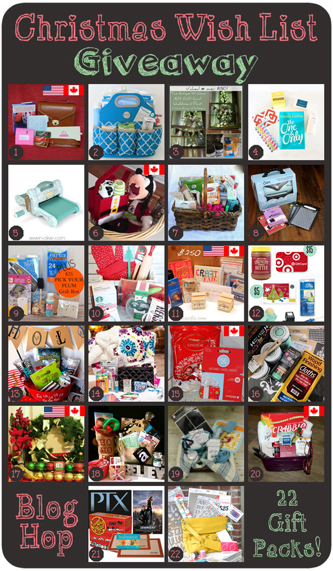 Win some awesome stuff! Christmas wish list giveaway. Runs 12/08/14-12/15/14