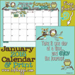 January 2015 Calendar… A new year!