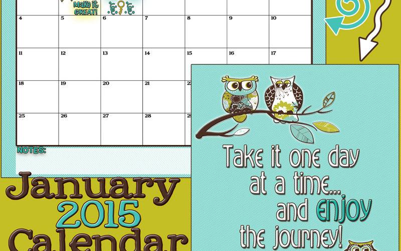 January 2015 Calendar… A new year!