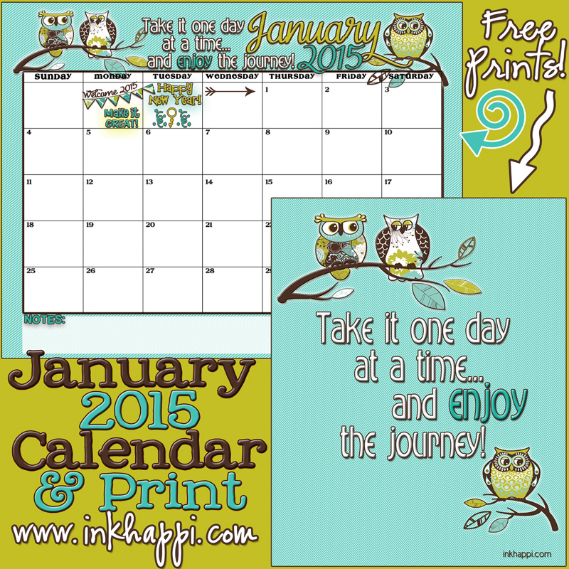 2015 Annual Calendar Make It Count Inkhappi