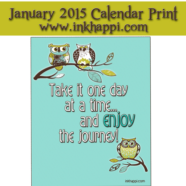 A new year!  January 2015 Calendar and a print. Free printables!