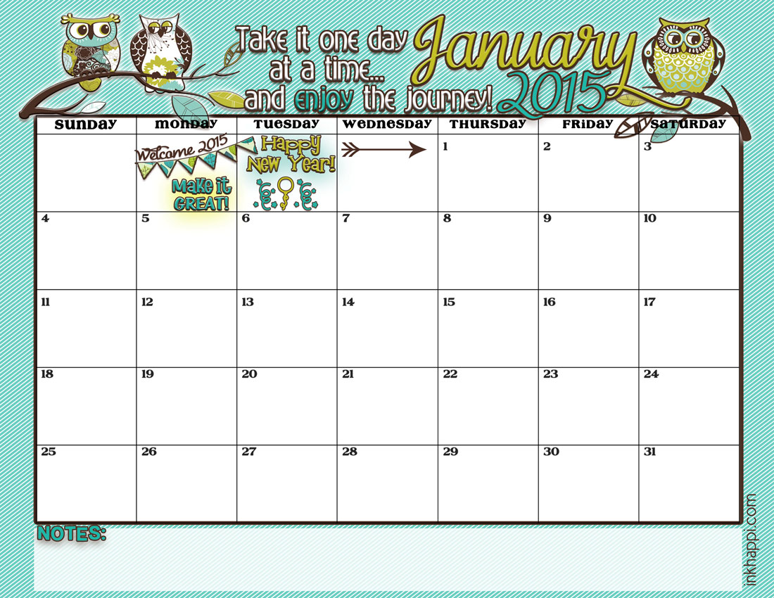 Pin Kalender Januar 2015 on Pinterest