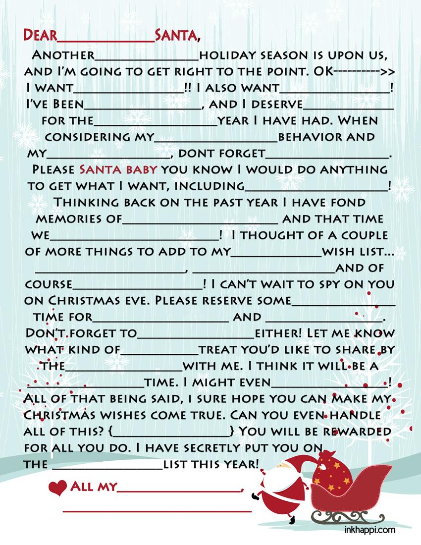 Adult Santa Letters 7