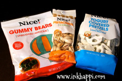 Some of my simple yet favorite snacks. great to throw in your purse or car for a pick me up treat!