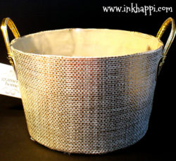 All of these goodies come in this darling gold basket. Baskets can be useful in any room in the home. I adore this one!