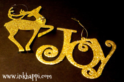 I'm a little obsessed with anything GOLD right now, so here are a couple of cute ornaments!